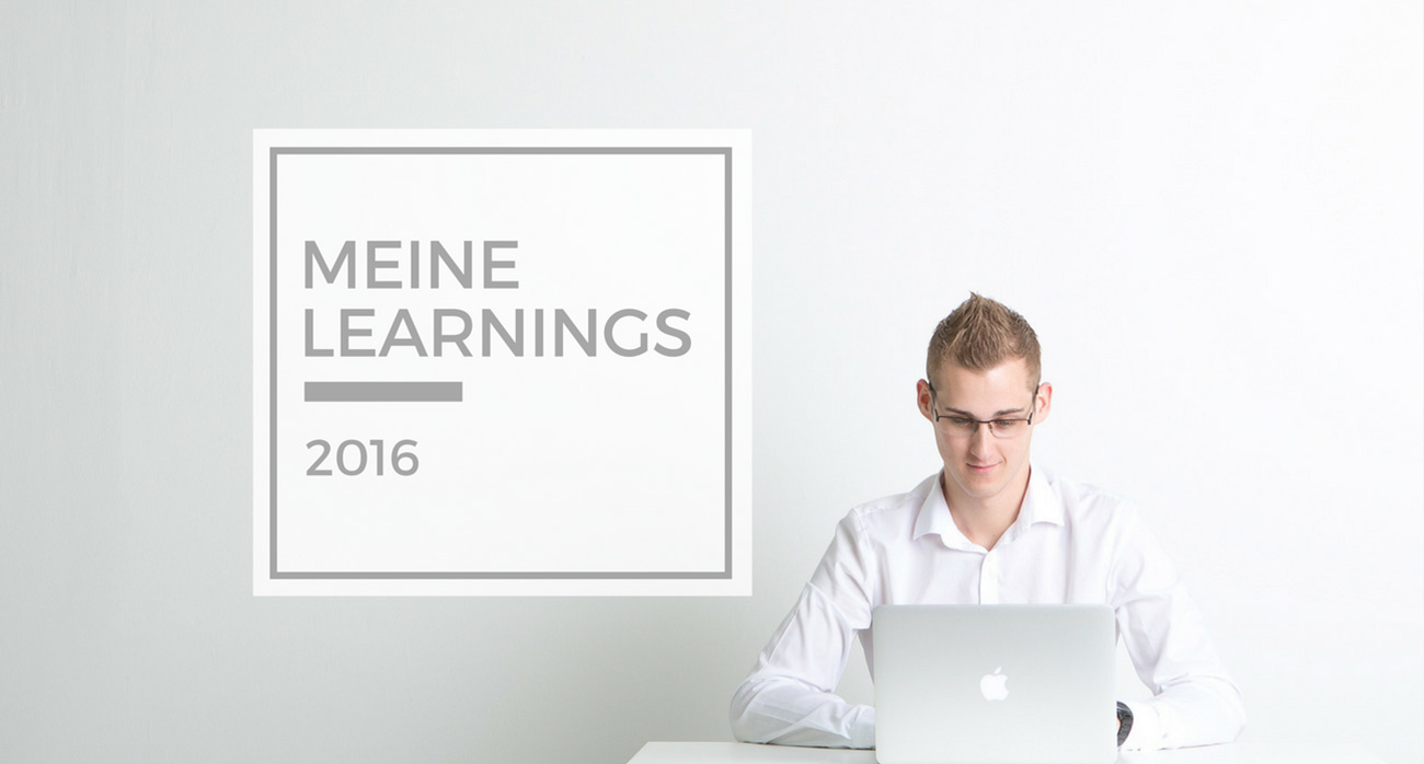 Meine Learnings 2016